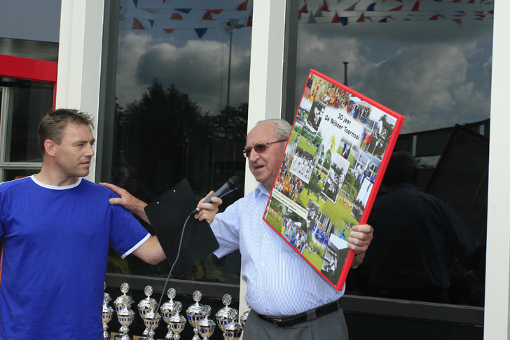 Gé Nijboer op het 30ste toernooi
